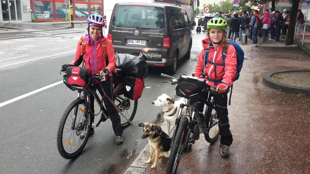 Über den Ciclovia Alpe Adria von Salzburg nach Grado - Tag 1 von Salzburg nach Werfen