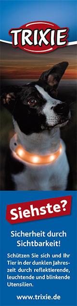 Praktisches leuchtendes Hundehalsband von Trixie