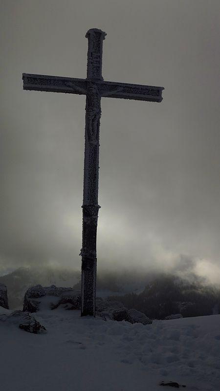 Gipfelkreuz Brecherspitze