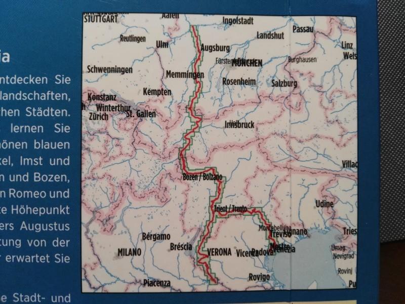 Via Claudia Augusta - Von Donauwörth nach Venedig (c)bikemap