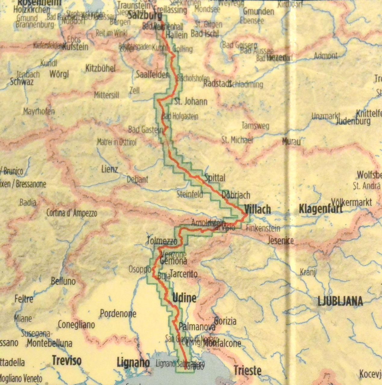 Über den Ciclovia Alpe Adria von Salzburg nach Grado