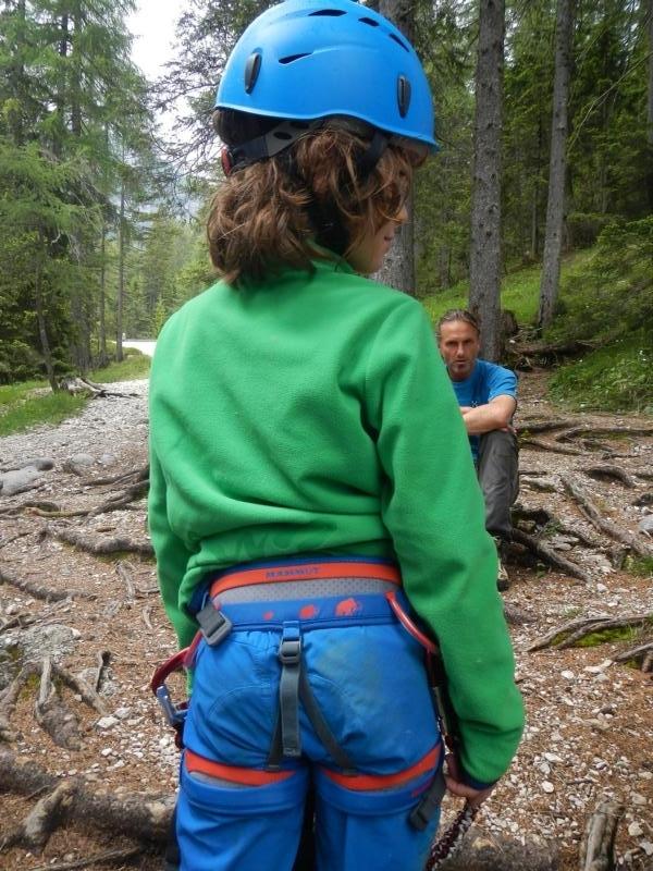 Cortina d`Ampezzo - Cascate di Fanes - Klettern mit Mario Dibona