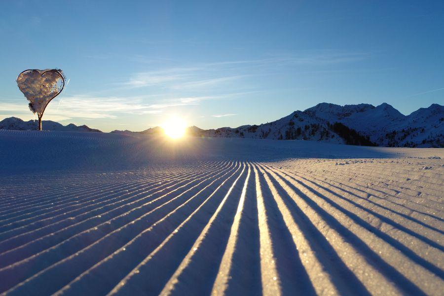 Sonnenaufgang im Skiparadies Zauchensee