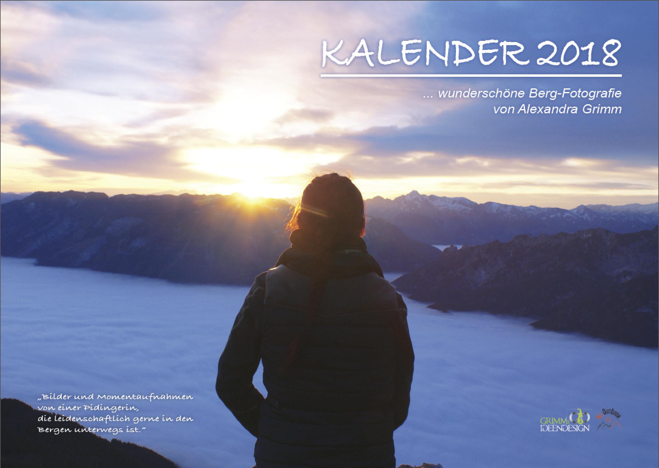 Titelblatt Fotokalender 2018 - Schönheit der Berge von Alexandra Grimm