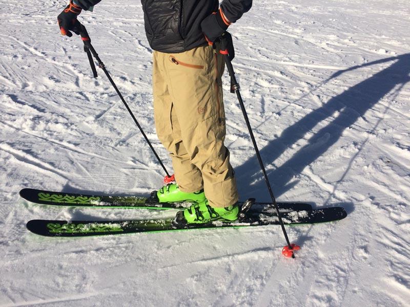 K2 Pinnacle Ski und Boot getragen – ACHTUNG: Perspektivische Verkürzung!