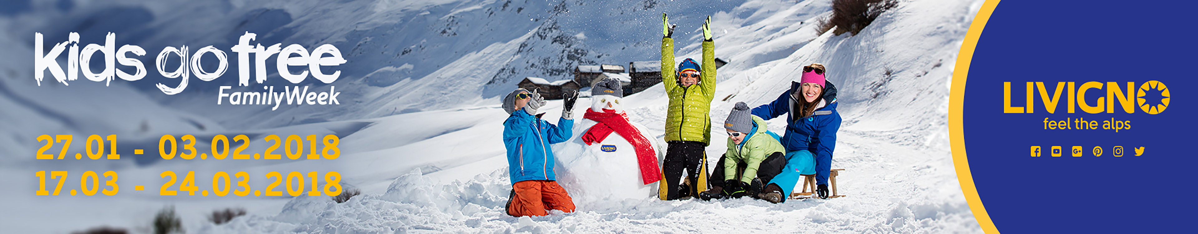 Kids go free! Family week. Livigno - Feel the alps!