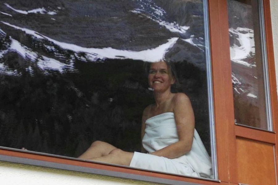 Panoramasauna mit Gletscherblick im Hotel Klausnerhof im Zillertal