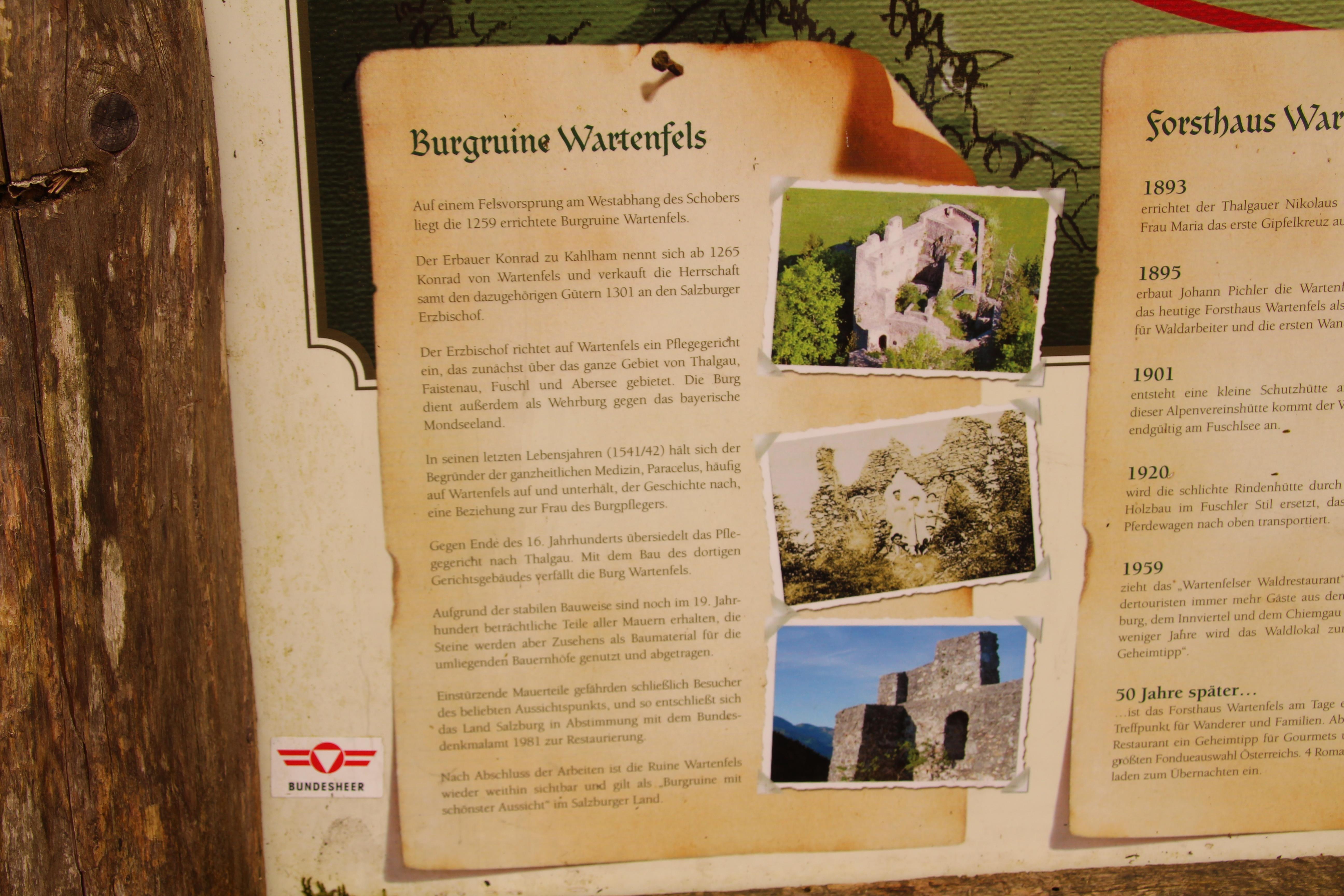Wanderung zur Burgruine Wartenfels