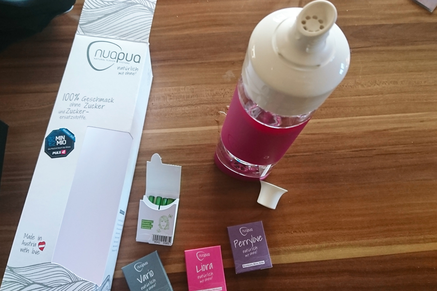Nuapua Trinksystem Verpackung und Inhalt