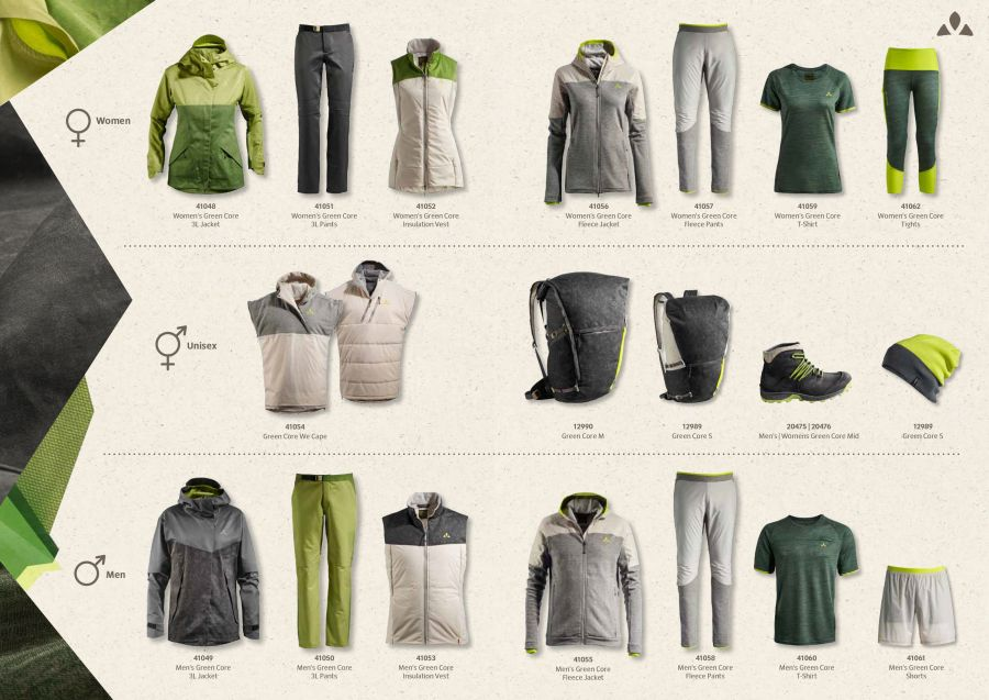 Vaude Green Shape Core Collection
