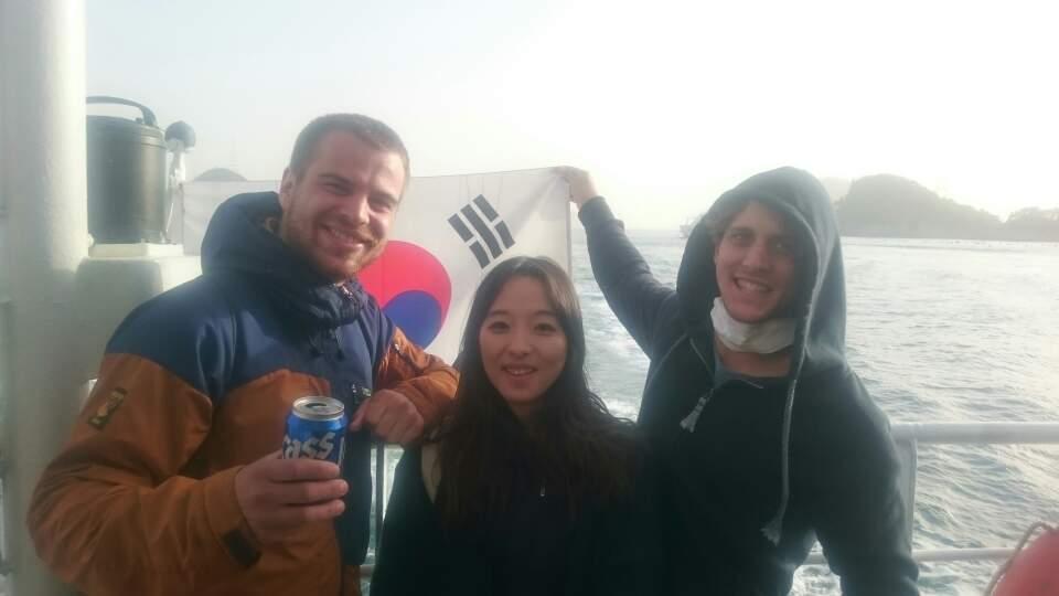 Reisetagebuch Elena und Mateo - Hallyeohaesang Nationalpark mit Yujin und Liam
