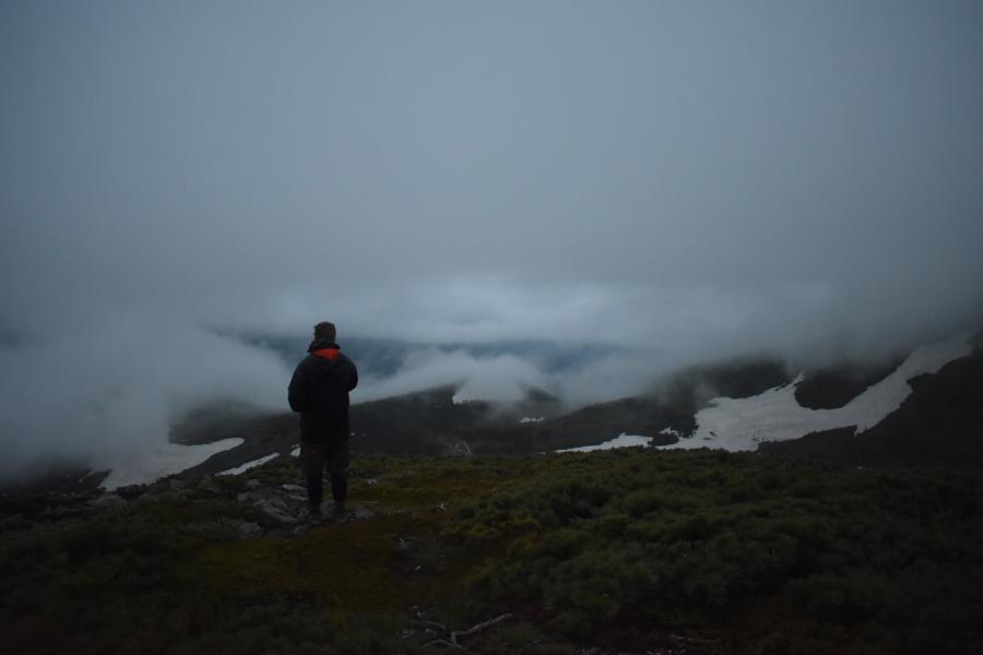 Reisetagebuch Elena und Mateo - Mount Akakuradake - nebelverhangener Sonnenaufgang