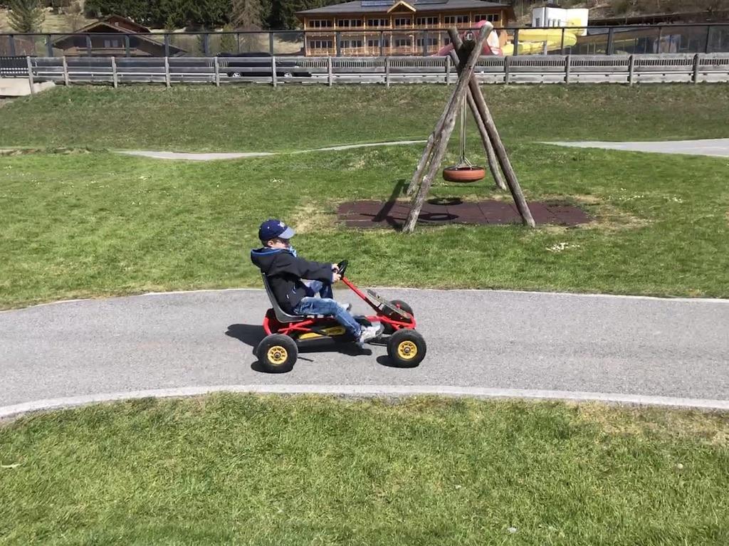 Die Go Kart Bahn im Kinderhotel Buchau