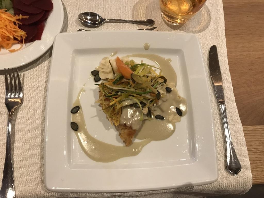 Abendessen Saiblingsfilet