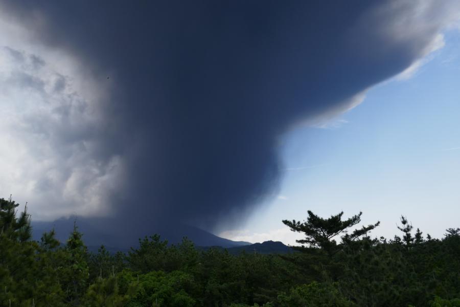 Reisetagebuch Elena und Mateo - Vulkan Sakurajima - Ausbruch