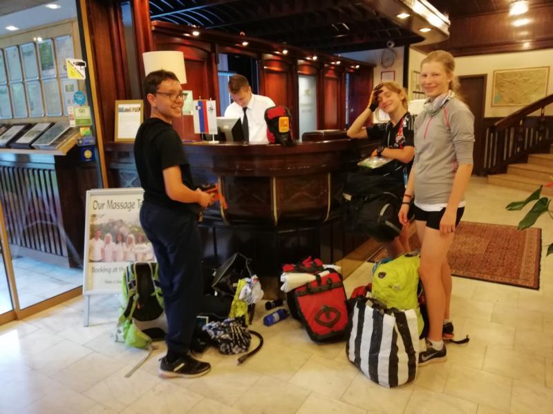 #vonBerchtesgadennachRijeka_Pfingsten2018_Tag4 Im Hotel Ribno in Bled