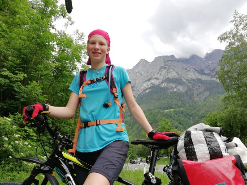 Radtour Pfingsten 2018 - Tag 1 - Pause am Fitnessparkour bei Werfen