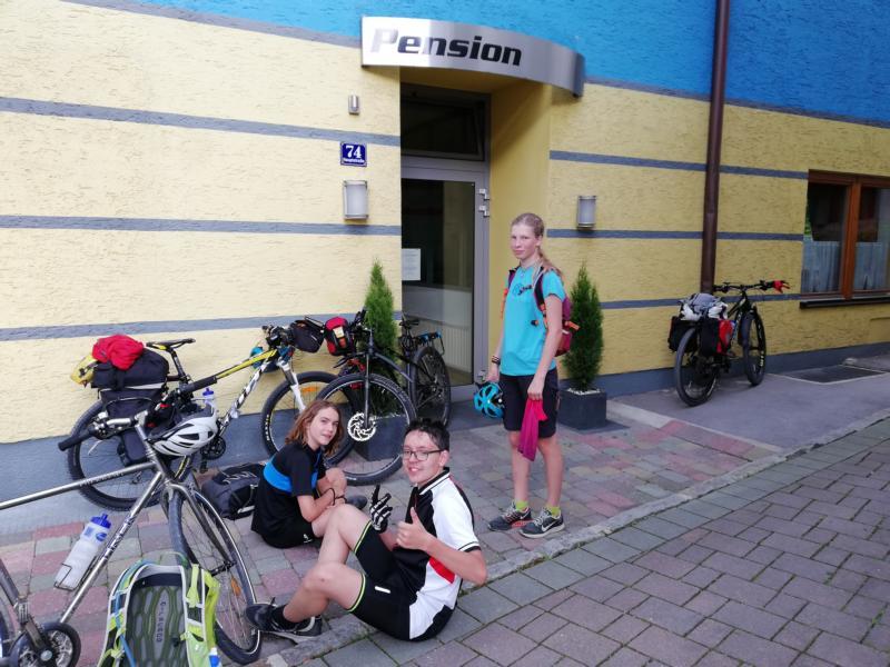 Radtour Pfingsten 2018 - Tag 1: Ankunft in der Pension Wielandner in St. Johann im Pongau