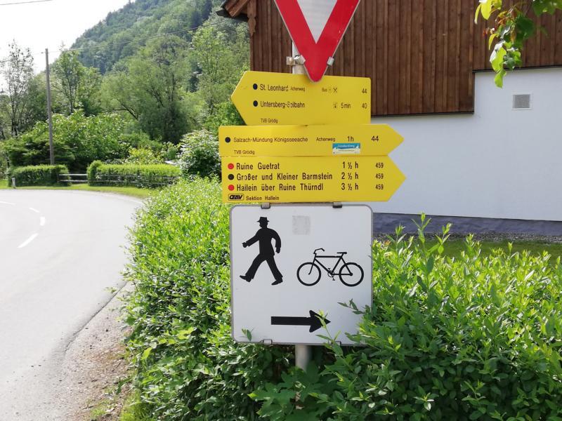 Radtour Pfingsten 2018 - Tag 1 - Richtung Hallein