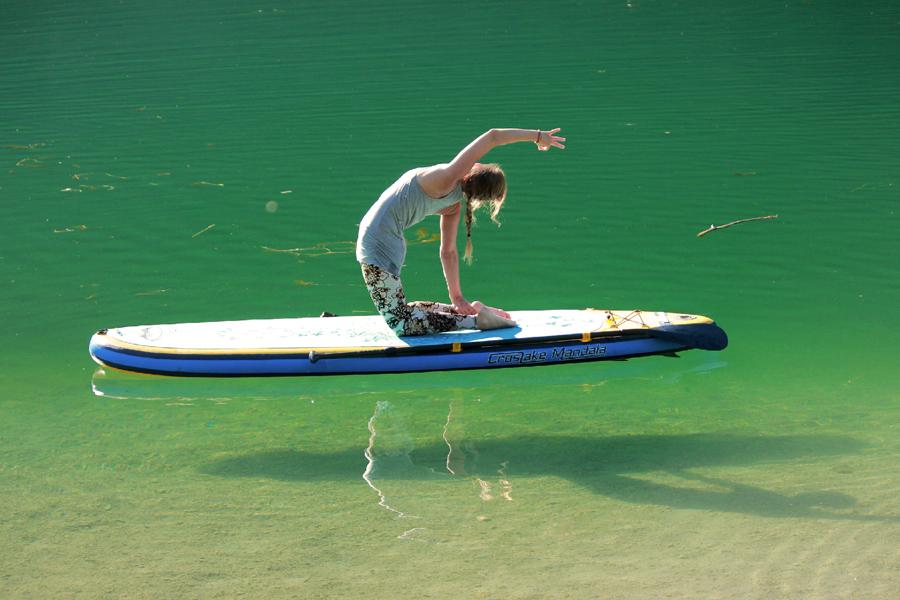 Yoga auf dem Pillersee
