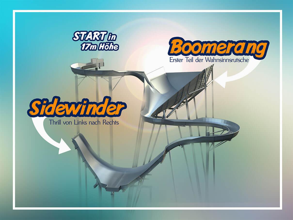 Boomerang und Sidewinder (c) Therme Erding