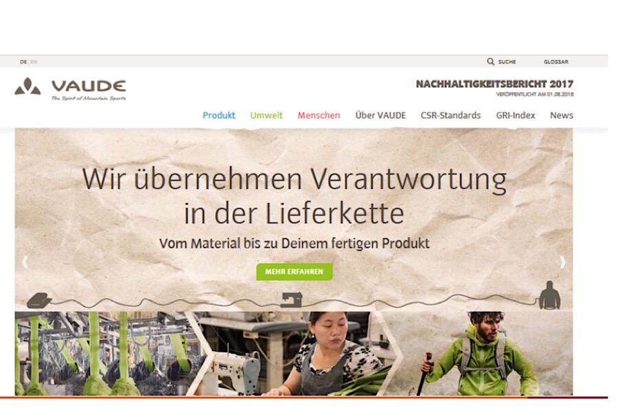 VAUDE übernimmt Verantwortung in der Lieferkette © Vaude