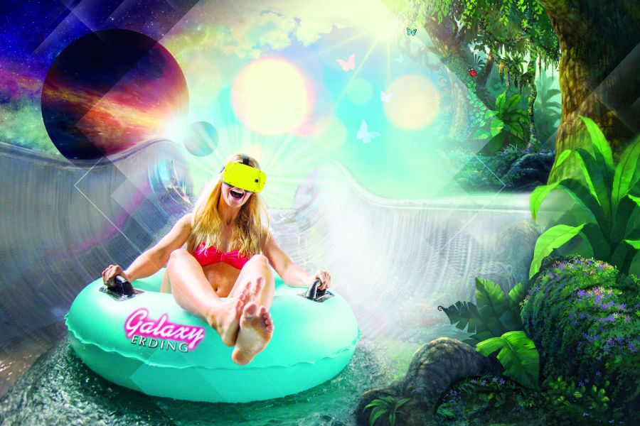 Therme Erding Space Glider - Wasseraction in 3D (c)Therme Erding
