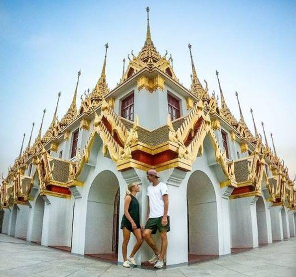 Annika und Timo - Backpacking in Süd-Ost-Asien (c)Anni&Timo Hier: โลหะปราสาท (Loha Prasat)