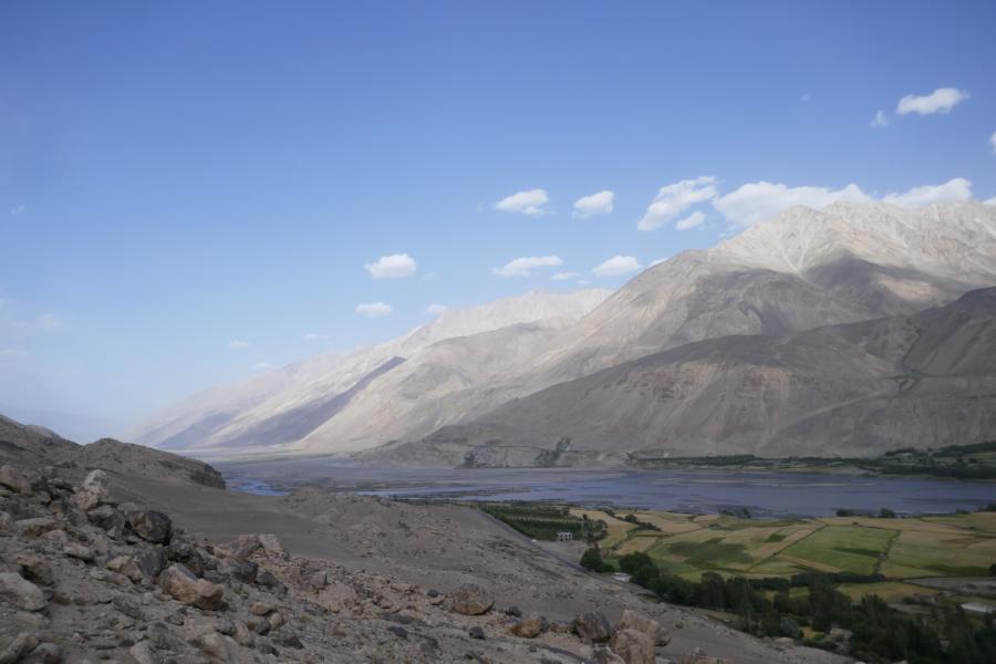 Reisetagebuch Elena und Mateo - Wakhan Valley, auf der anderen Seite des Flusses Afghanistan