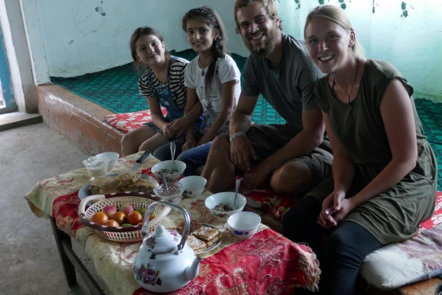 Reisetagebuch Elena und Mateo - Bartang Valley, eingeladen bei einer netten Familie