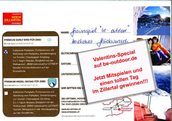 Valentins-Special 2019 - Verlosung VIP-Gondel im Zillertal