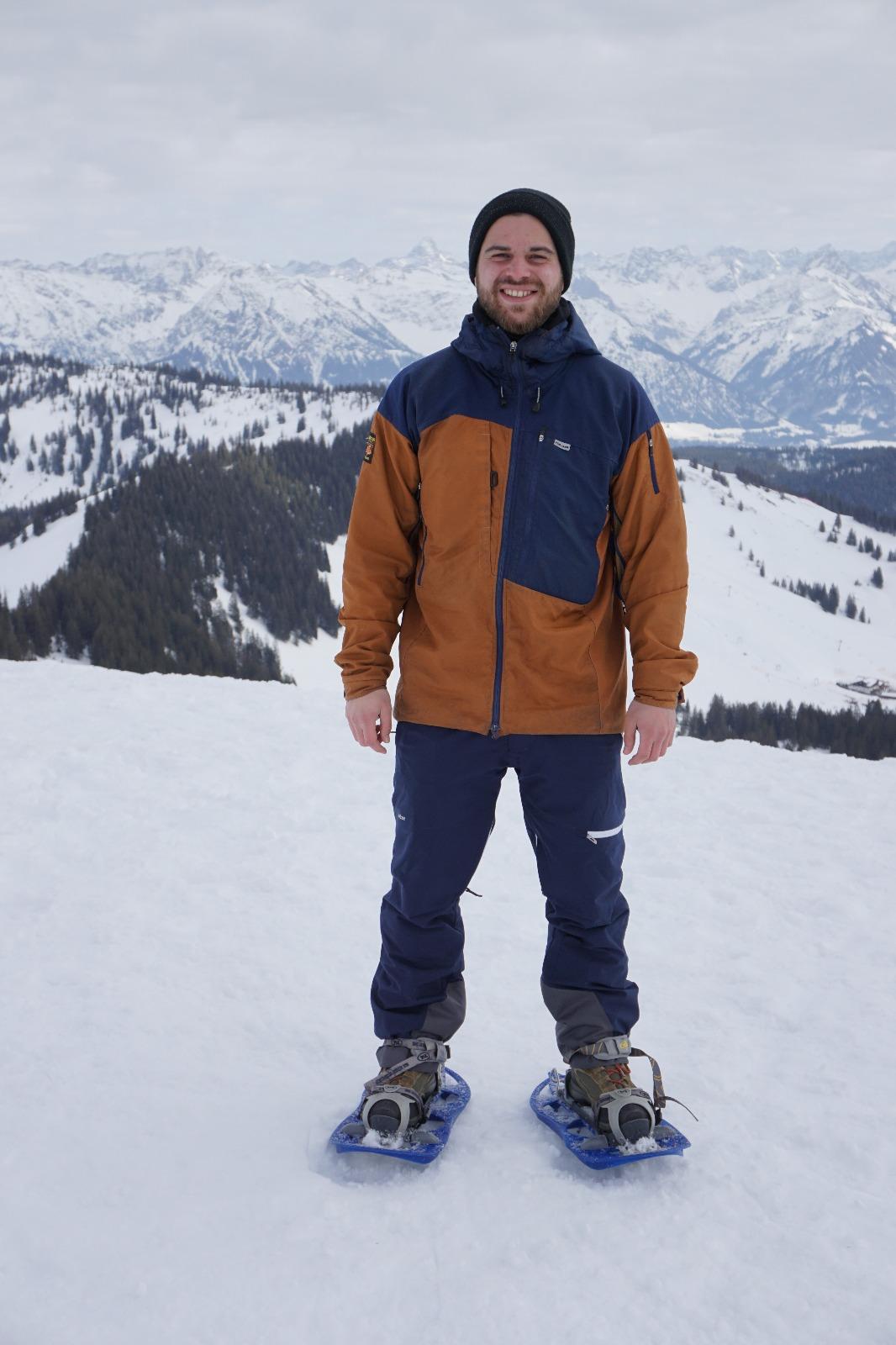 Paramo Enduro Jacket - auch heute noch mein täglicher Begleiter. Hier Riedberger Horn (Allgäu)