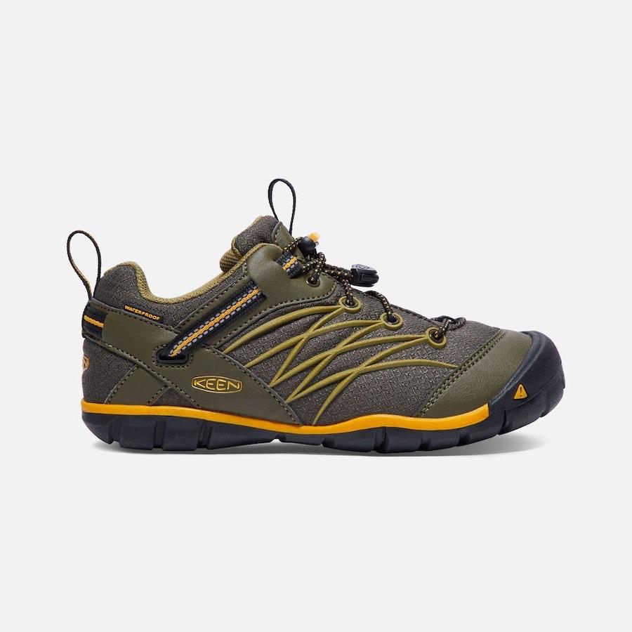 Chandler CNX Waterproof Dark Olive/ Citrus (c)keenfootwear.com
