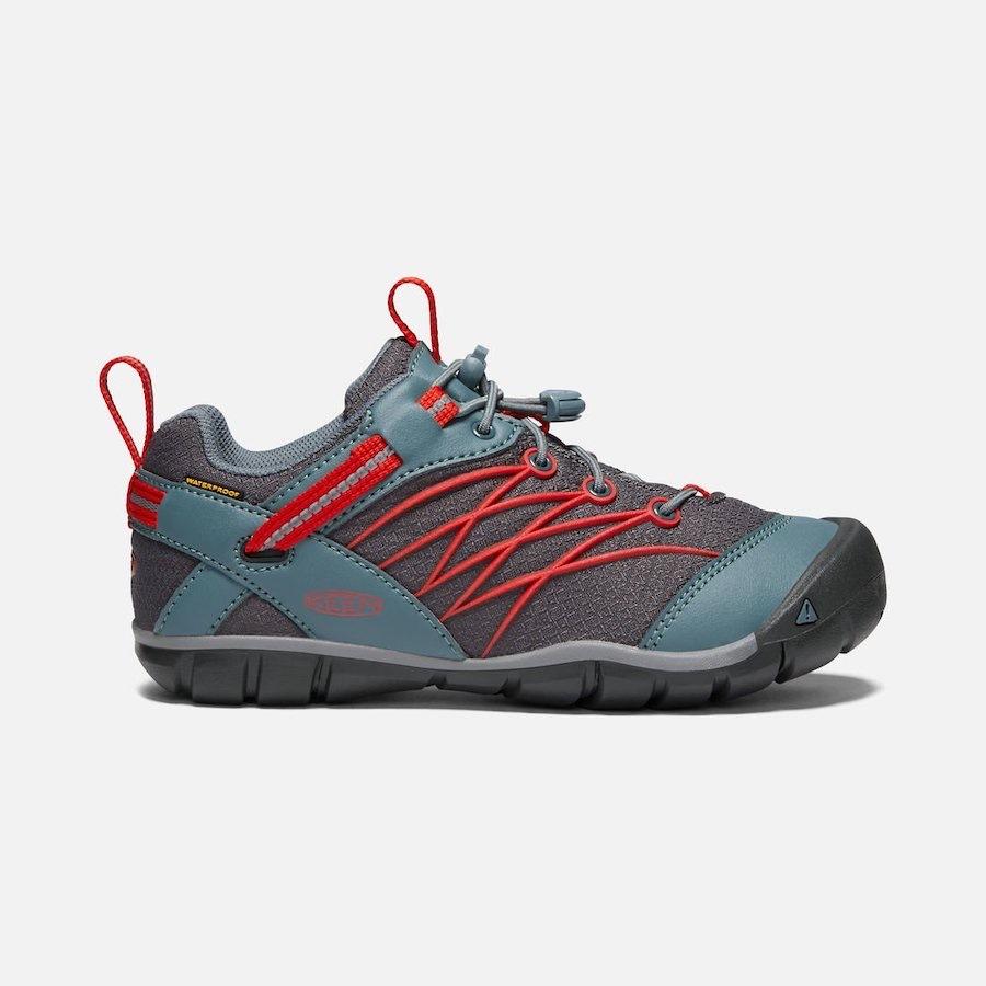 Chandler CNX Waterproof Stormy Weather/ Fiery Red (c)keenfootwear.com