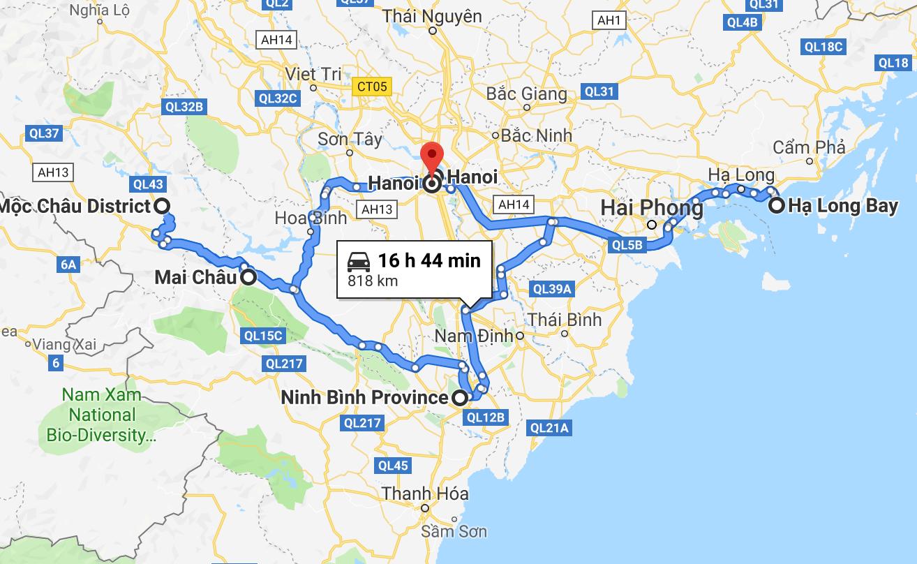 Hanoi-Halong-NinhBinh-MocChau-MaiChau-Hanoi (c)Annika und Timo