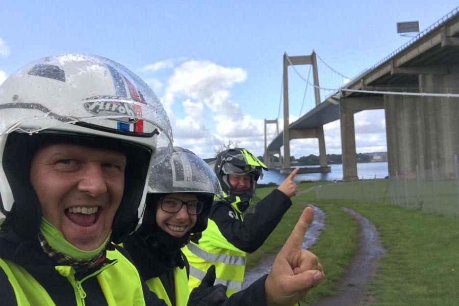 Arcticvespa_Tag02_5 - Middelfährt Brücke Dänemark
