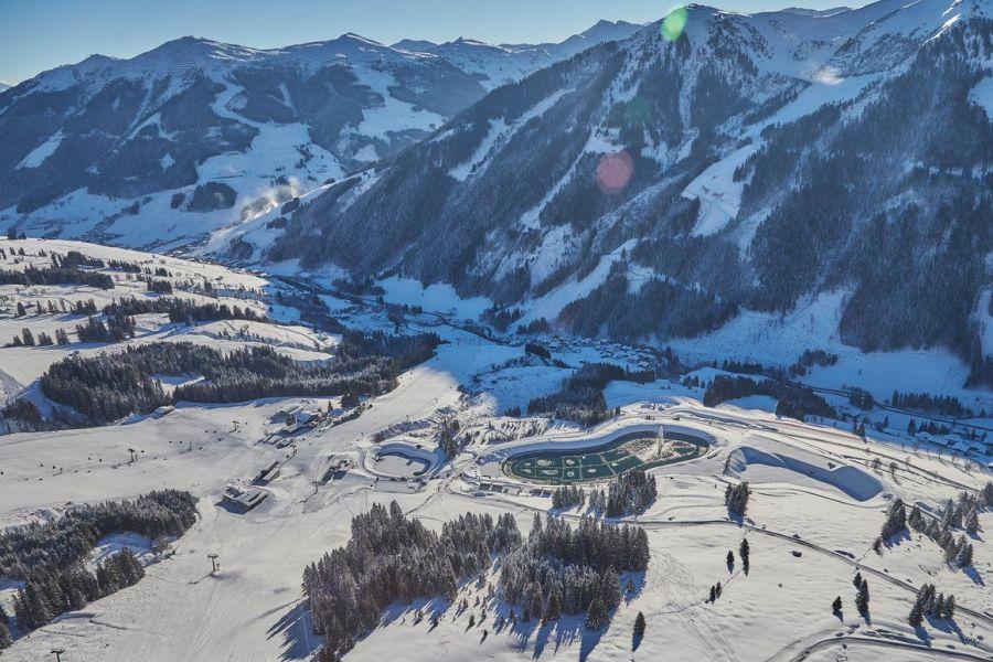 (c)Skizirkus Saalbach Hinterglemm - Speicherteich Hochalm