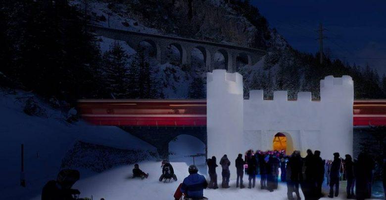 Photo of Rhätische Bahn – Das erste Schneeschloss der Schweiz
