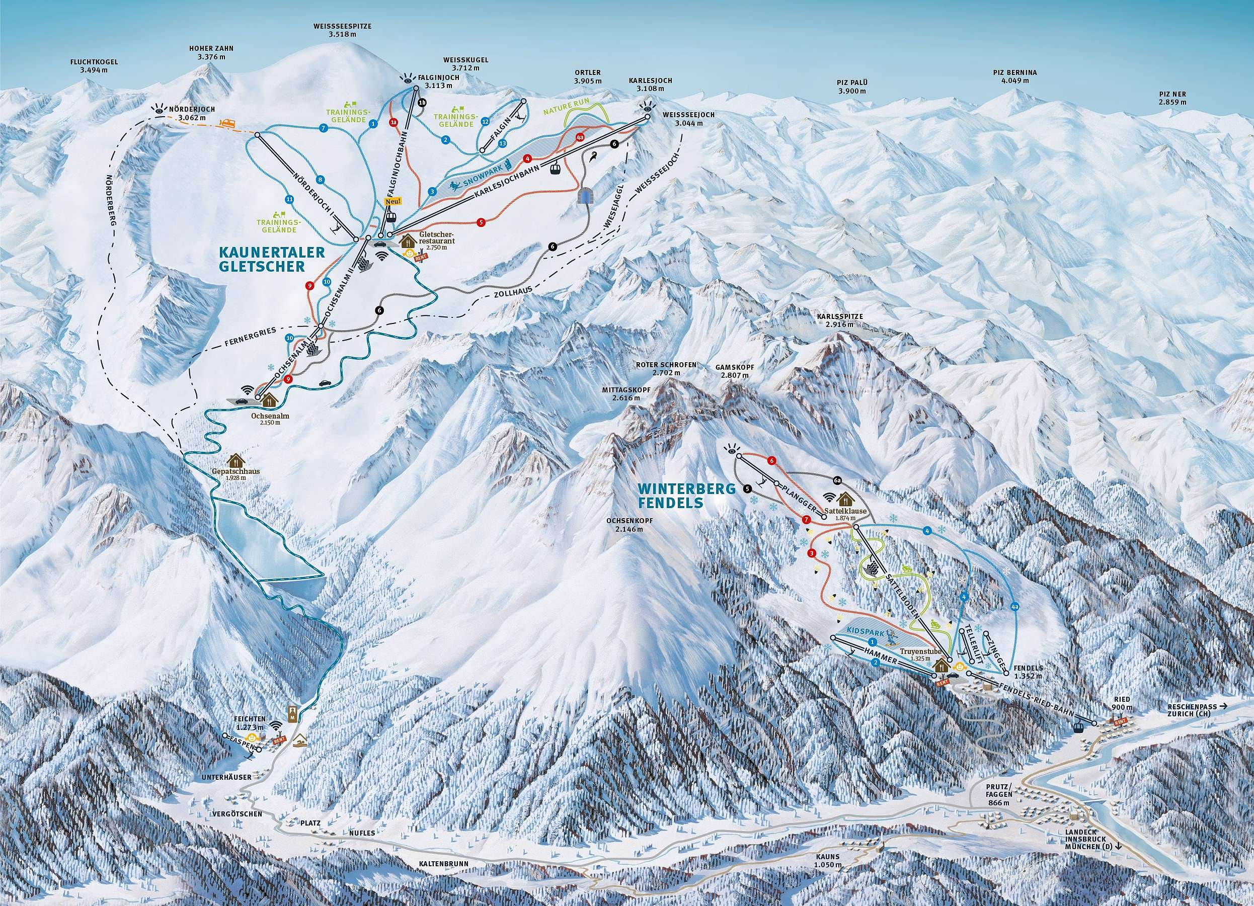 (c)Pistenplan Kaunertaler Gletscher