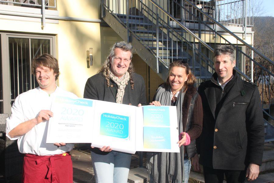 Holiday Check Award 2020 - Ferienparadies Alpenglühn