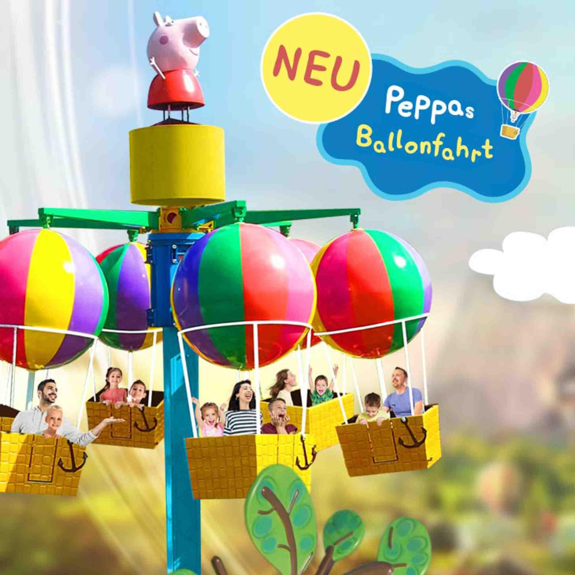 (c)Heide Park - Peppa Ballonfahrt