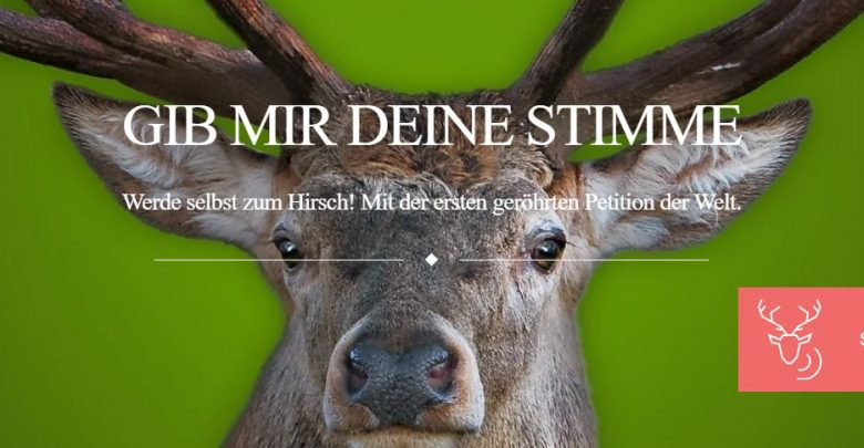 """Photo of Freiheit für den Rothirsch – Petition """"www.hilfdemhirsch.org"""""""
