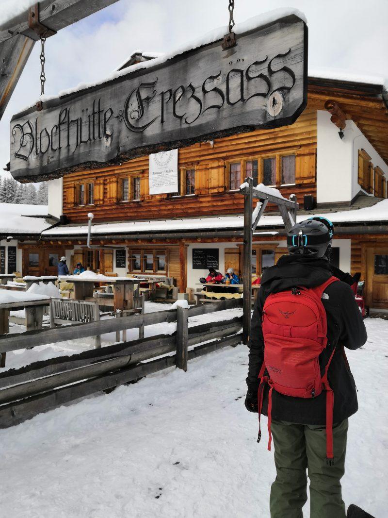 Osprey Kamber 16 - Mittagspause auf der Blockhütte Erezsäss