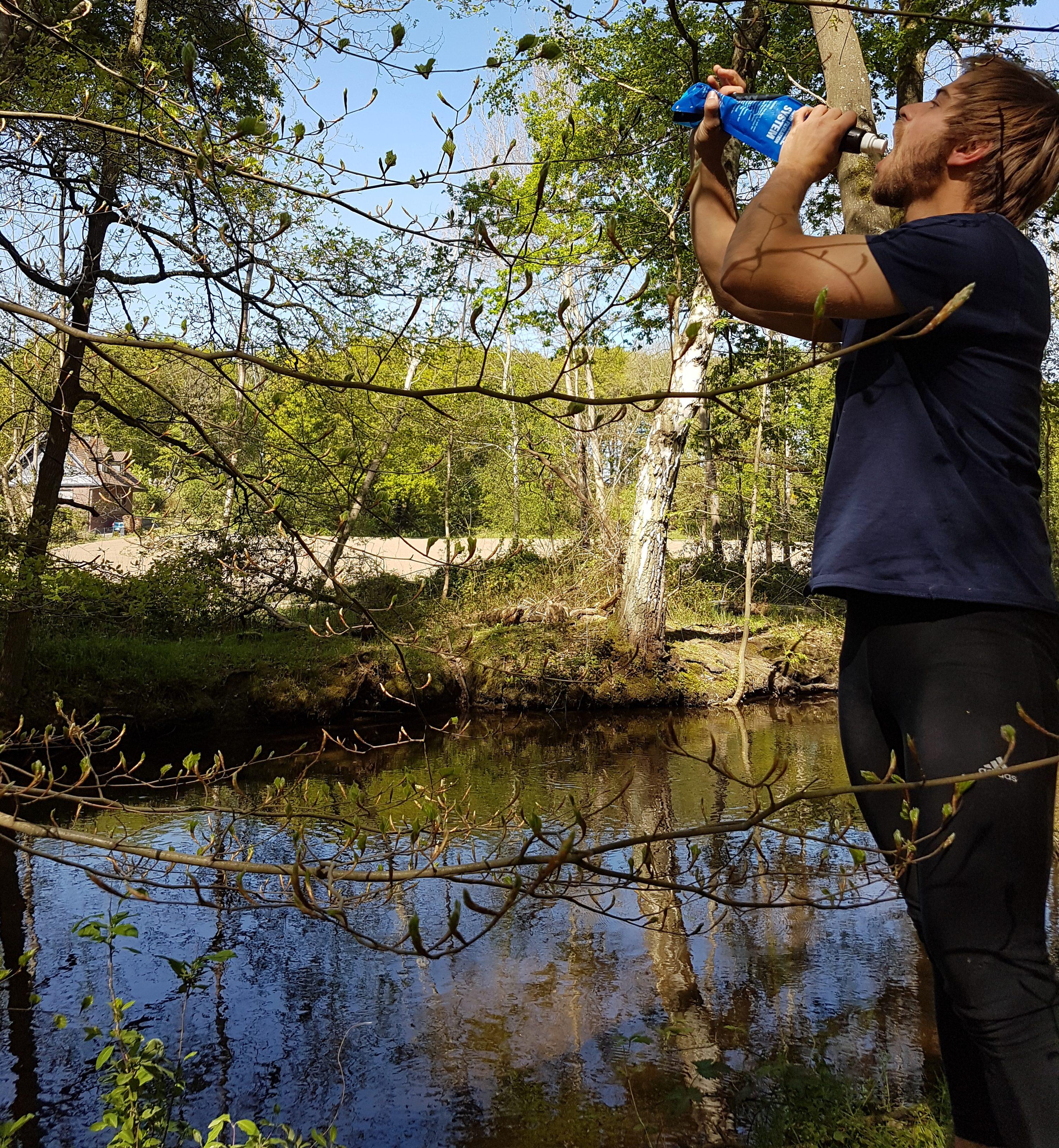 Sawyer Micro Sqeeze Wasserfilter - Fahrradtour entland der Schwalm in NRW