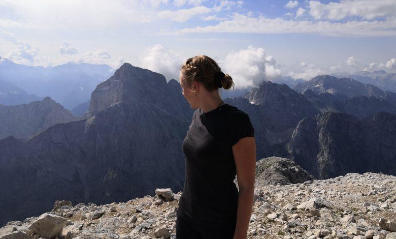 Helly Hansen Merino Light T-Shirt - Auf dem Mangard Gipfel (3. höchster Berg Sloweniens
