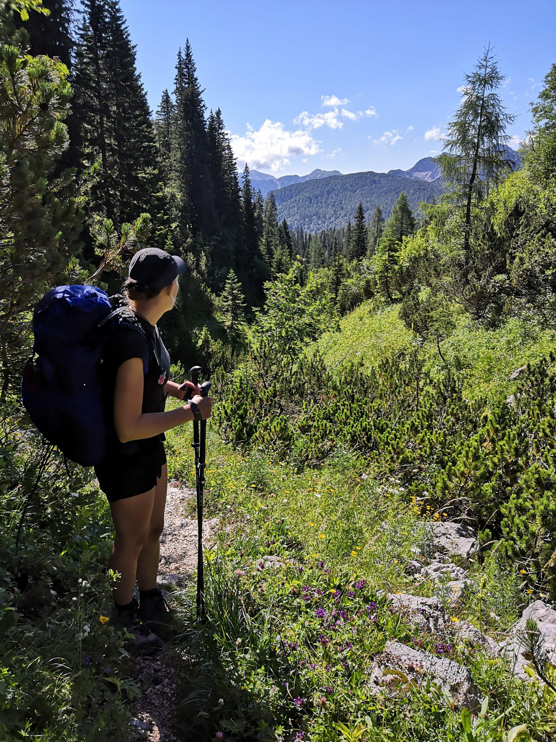 Micro Vario Carbon Trekkingstöcke - Auf dem Weg zum Gipfel des Triglavs
