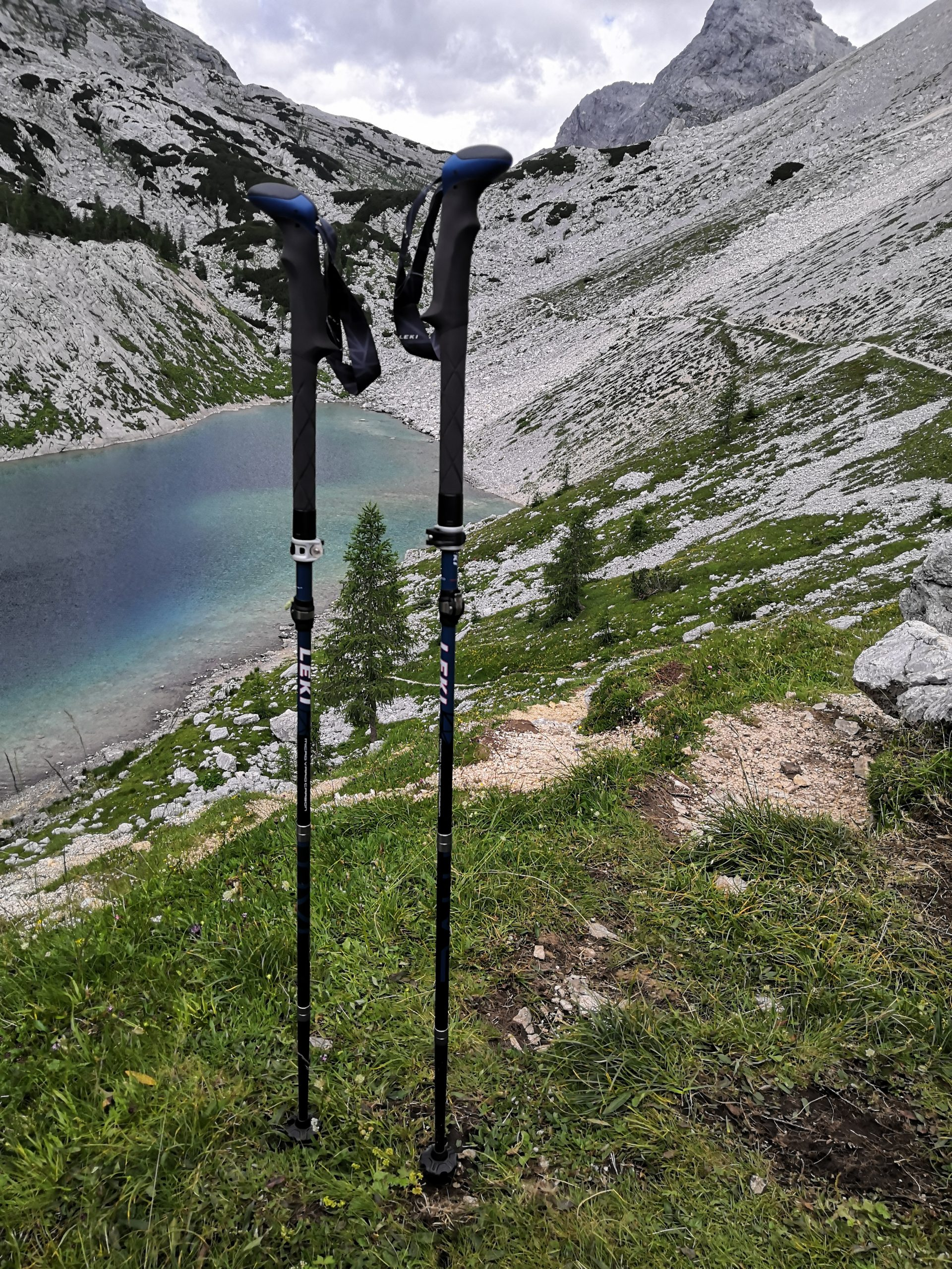 Micro Vario Carbon Trekkingstöcke - einer der sieben Seen auf dem Weg zum gipfel des Triglavs