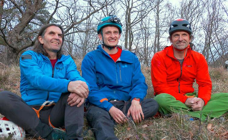 (c)CheXpedition - Kika Checker Julian mit den HuberBuam Kletterfelsen Karlstein
