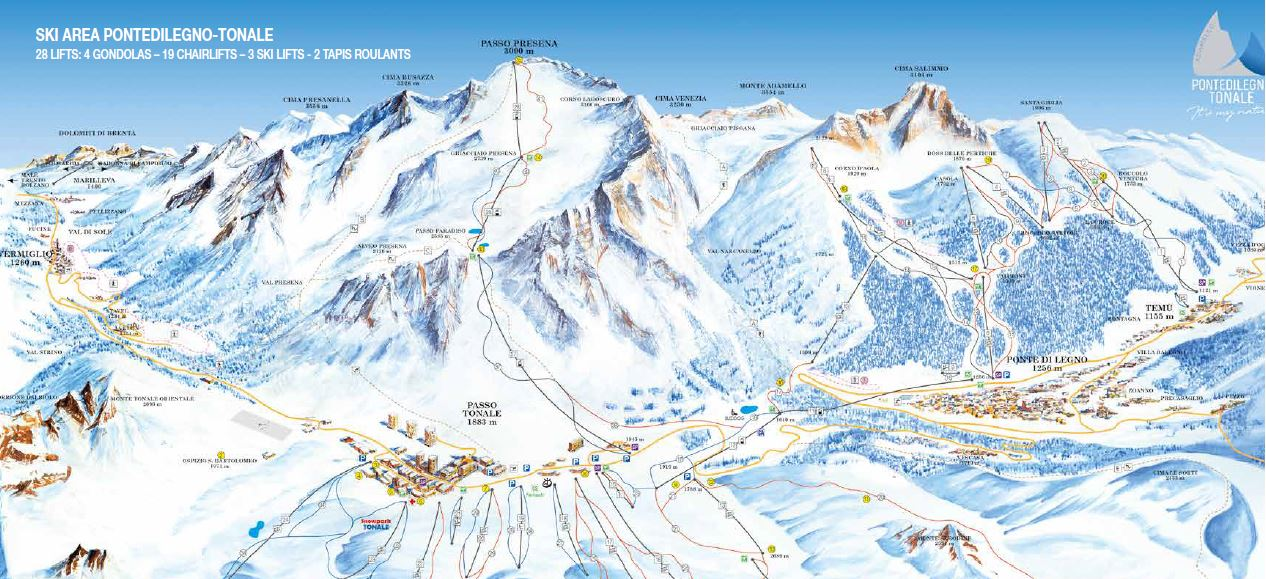 (c)Gletscherskigebiet Pontedilegno-Tonale