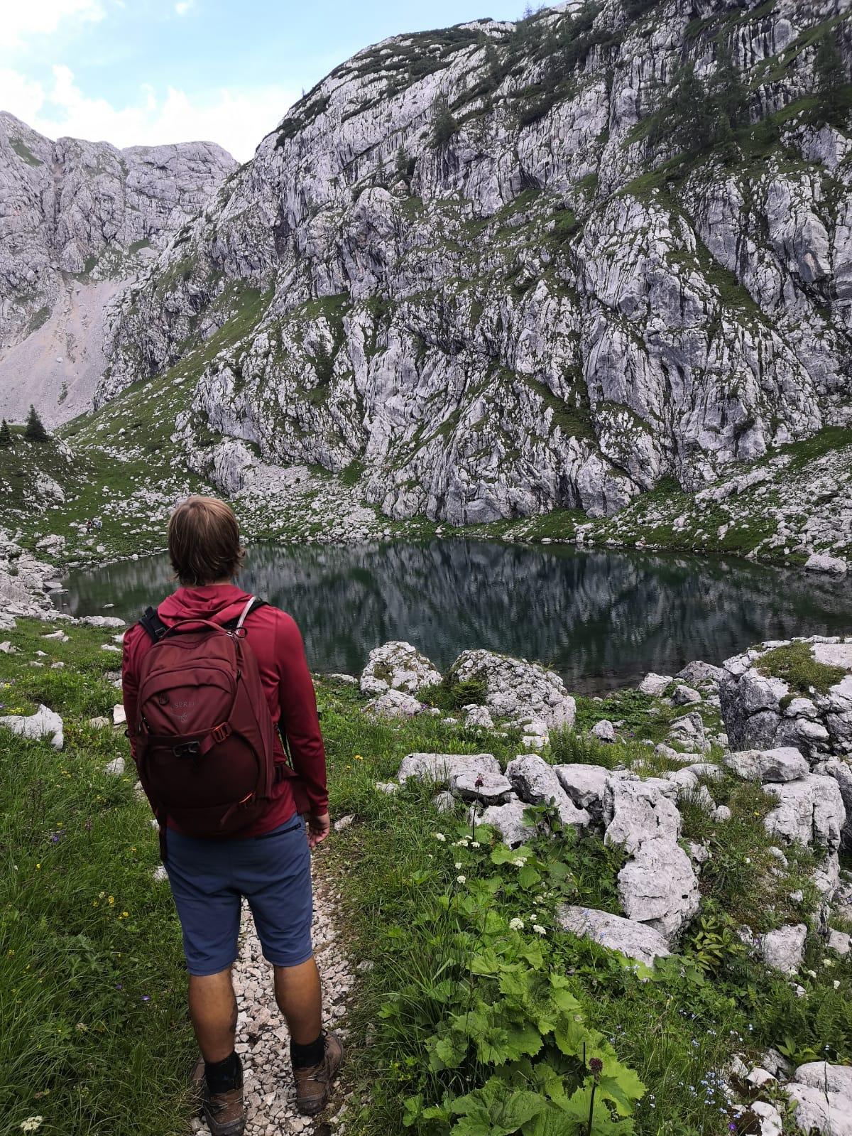 Osprey Metron Rucksack - hier am Seeleinsee im Nationalpark Berchtesgaden